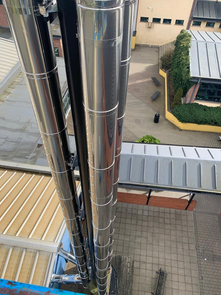 St Pius X College Chimney Installation Gallery Image