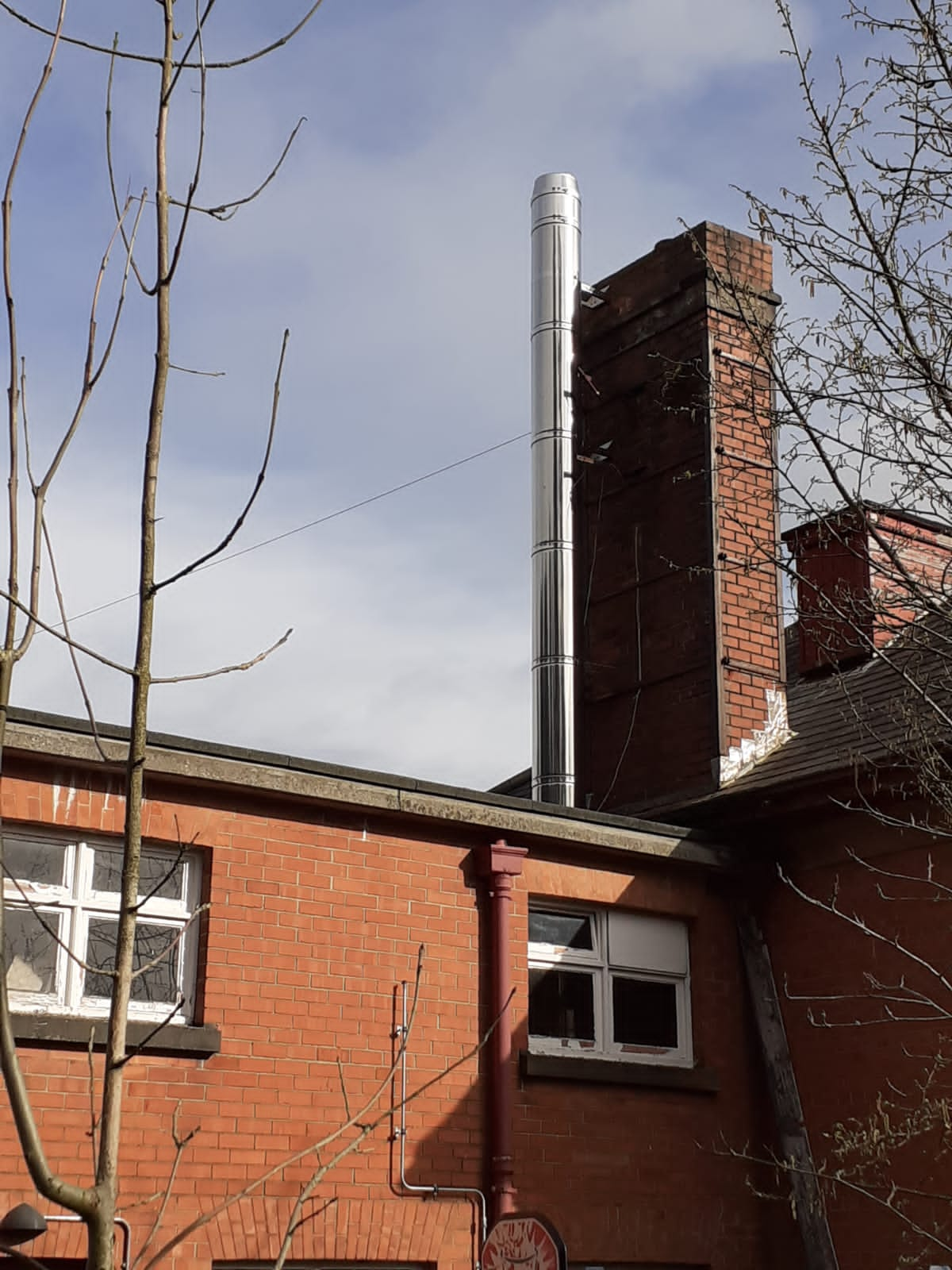 Whiteabbey Primary School Chimney Installation Gallery Image