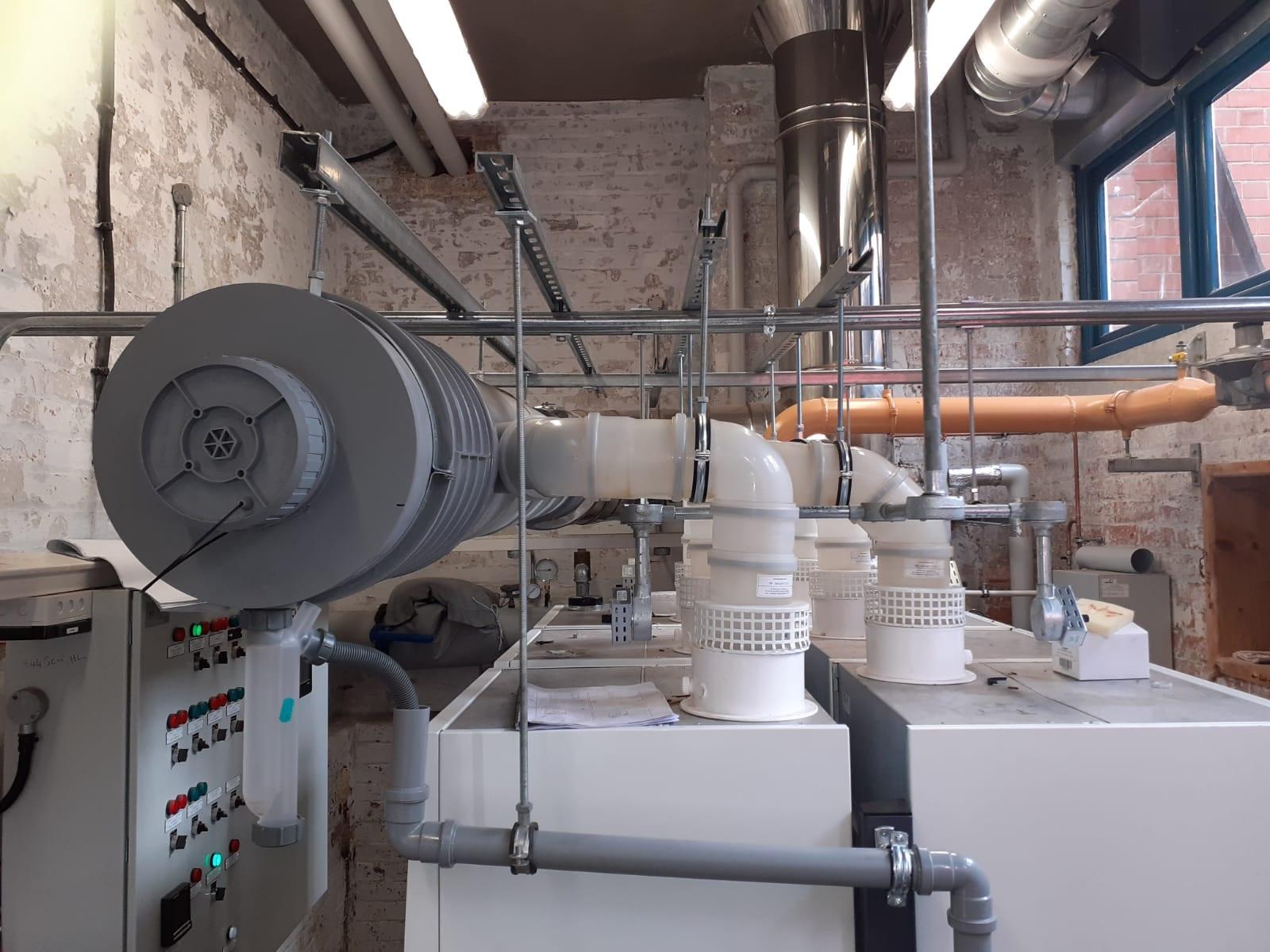 Whiteabbey Primary School Chimney Installation Gallery Image
